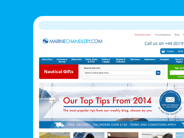 Magento website migration - web portfolio entry for Marine